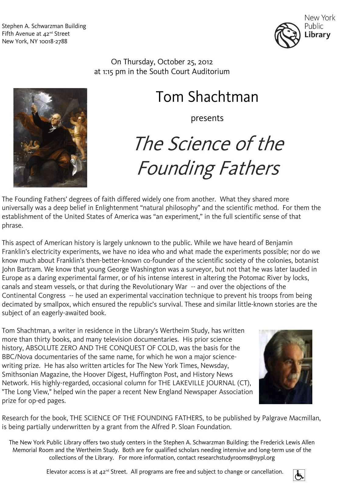 Shachtman The Science Of The Founding  Fathers